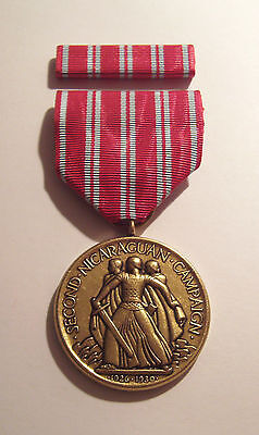 1926 U.S. Marine Corps 2nd Nicaraguan Campaign Medal with RIBBON