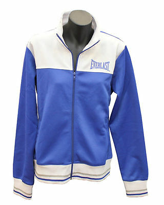 Womens Everlast Blue/white/silver Training Tracksuit Track Jacket Size Medium