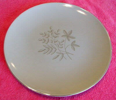 "{SET OF 3} Knowles (Silver Spray) 8 1/2"" DINNER PLATES  Pat #X8069"