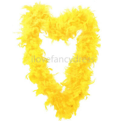 Yellow 65G Feather Boa Fancy Dress Costume Accessory Easter Party Decoration