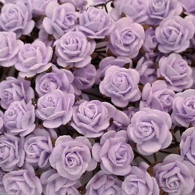 50 Mini Mulberry Paper Flowers Wedding Rose Gift Basket Craft Supply ZR2-186