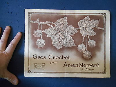 Ancien Catalogue Album Gros Crochet pour Ameublement Collection Cartier Bresson