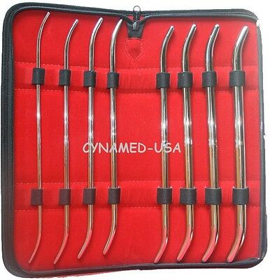 New Premium Grade 8 Ea Pratt Dilator Sounds Set Surgical Medical Instruments