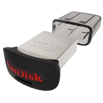 Pendrive Sandisk 64 GB USB 3.0 130 MB/s Ultra Fit Memoria Pen Micro Mini 128 256
