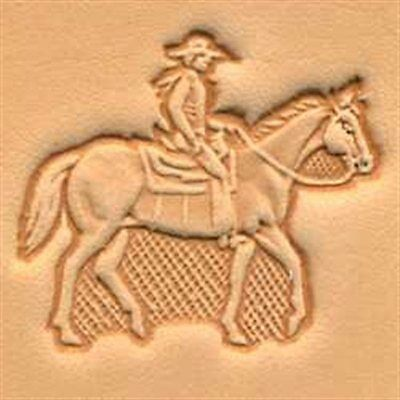 8314 Horse & Rider Craftool 3-D Stamp Tandy Leather 88314-00