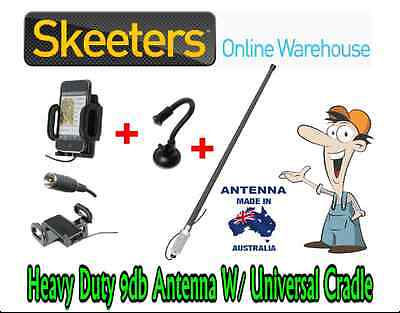 9db Spring Base Mobile Phone Antenna W/ Universal Patch Cradle - iPhone Android