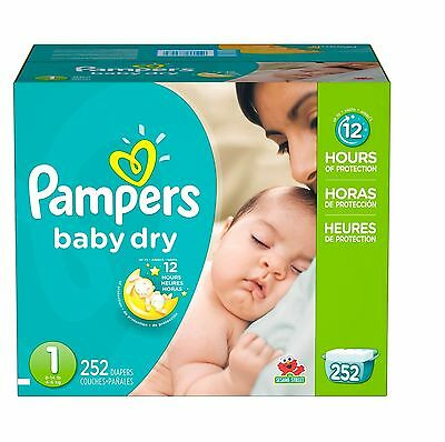 Pampers Baby Dry Diapers Choose Your Size 12 Hours of Over Night Protection