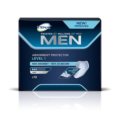 1x TENA Men Absorbent Protector For Men - Level 1 - Pack of 12 - 150ml