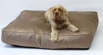 "Dog Bed, Chocolate Faux suede  8"" Deep, Extra Large, Removable inner, 3 sizes"