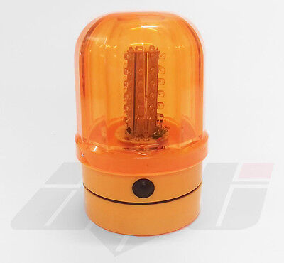 Rotating Led Strobe Beacon Battery Powered Magnetic Flashing Light Hgv Taxi