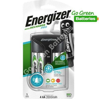 Energizer PRO AA /AAA Intelligent Charger + 4 AA 2000 mAh Rechargeable Batteries