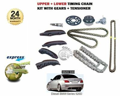For Bmw 520D E60 M47D20 177Bhp 2007-2010 Upper + Lower Timing Chain Kit Set
