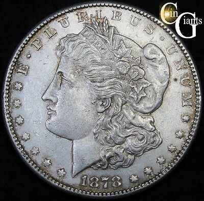 1878-S Morgan Silver Dollar First Year Uncirculated San Francisco Mint Coin S$1.
