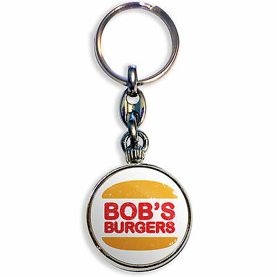 BOB'S BURGERS – BURGER KING– Chrome Keyring (33 mm dia. insert)