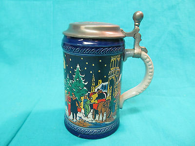 1979 MUNICH CHRISTMAS FAIR LIDDED BEER STEIN NUMBERED LIMITED EDITION 5178/7500