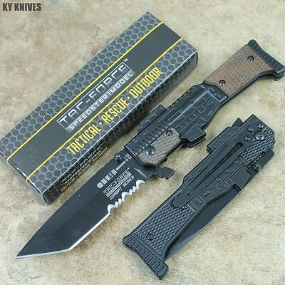 """8"""" Combat Series Assisted Open GUN STYLE Pocket Knife New TF-798BW zix"""