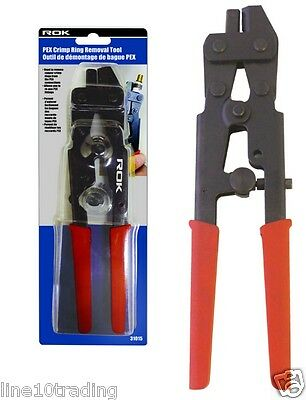 ROK DeCrimper - PEX Crimp Ring Removal Tool Heavy Duty 31015 For Copper Rings