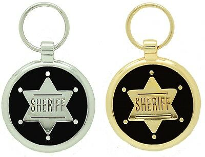 Pet Tags Custom Engraved Personalised Dog Tag Pet Id Sheriff Charm Pet Tag