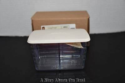 Longaberger- Two-Way dived Tea basket Protector w/ Lid #40910 NEW