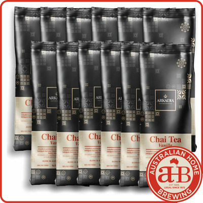 12 x 1kg VANILLA ARKADIA CHAI latte chai powder chai tea cafe drink tea latte