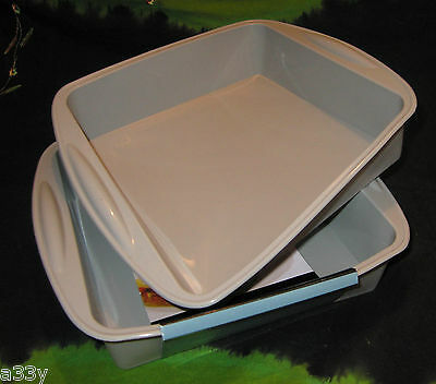 SILICONE BAKING SQUARE TRAY Lasagne Cake Dish microwave Non Stick tin loaf oven