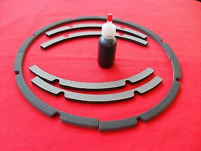 "12"" Pro Grade Speaker Chip Gasket 1 Pair with 1 oz Black Rubberize Adhesive"