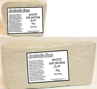 Air Drying White Clay 1kg-5kg Earthenware Pottery Clay Modelling Clay