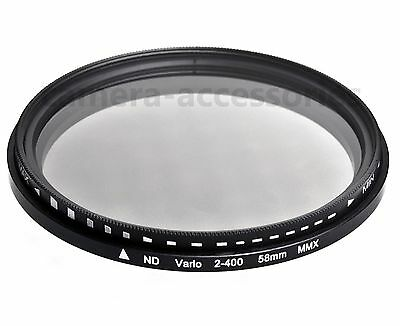 58mm Adjustable Variable ND Neutral Density lens Slim FILTER Fader ND2 to ND400