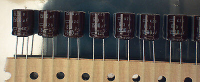 1500uF 6.3V 105C 10X12.5mm Electrolytic Capacitors  -10pcs