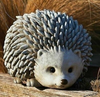 """ROMAN Pudgy Pals 6.75"""" HedgeHog Garden Statue #75262 NEW Boxed"""