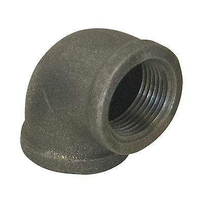 "3/4"" BLACK MALLEABLE IRON 90 ELBOW DEG 90° ELBOW fitting pipe npt"