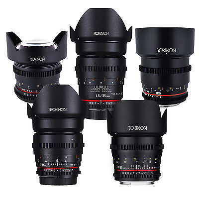 Rokinon Cine DS Full Cine Lens Kit for Sony E - 50mm + 35mm + 24mm + 85mm + 14mm