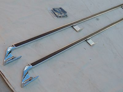 CHEVY & GMC NOS PICK UP BED RAILS WOOD GRAIN NICE!1967-72-1973-87 LONG BED