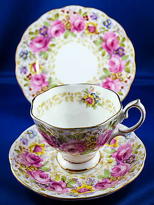 "Lovely Royal Albert Trio@""Serena"" pattern MINT! Rare!"