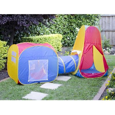 Discovery Kids Pop Up Adventure Inddor Outdoor Play Tent Crawling Tunnel Set