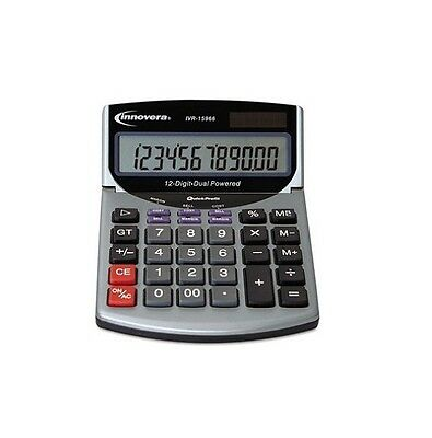 Innovera 15966 Compact Desktop Calculator 12 Digit LCD IVR15966 - New Item