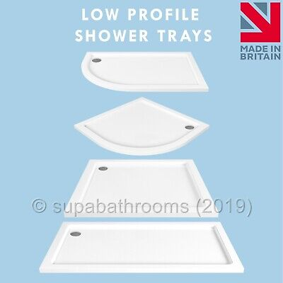 Stone Resin Bathroom Shower Enclosure Tray Various Styles and Sizes