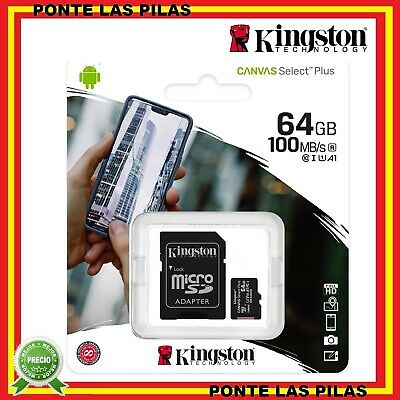 Tarjeta de Memoria Micro SD Kingston 32GB 64GB 128GB - Memoria MicroSD GB + USB