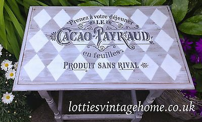 A4 Stencil CACAO-PAYRAUD French Fabric Furniture Vintage Shabby Chic ❤ 190 MYLAR