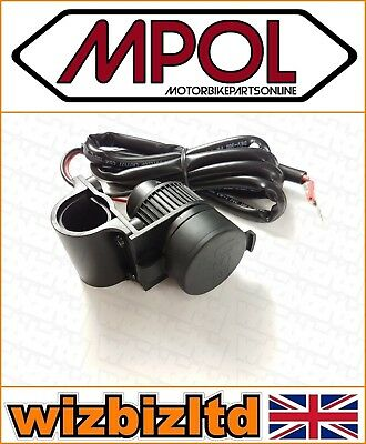 Motorcycle 12V Twin USB Power Socket Charger (Waterproof Heatproof) CHUSB02