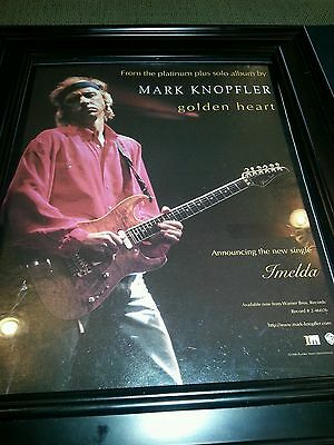 Mark Knopfler Golden Heart Imelda Rare Original Promo Poster Ad Framed!