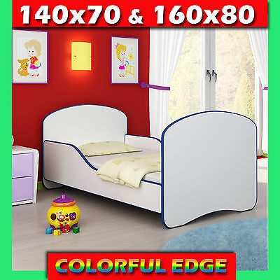 TODDLER CHILDREN BED & COLORFUL EDGE + FREE DELIVERY 140x70 160x80
