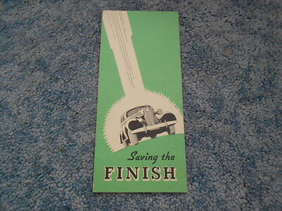 1936 GM GENERAL MOTORS SAVING THE FINISH CARE of AUTOMOBILE FINISHES BOOKLET