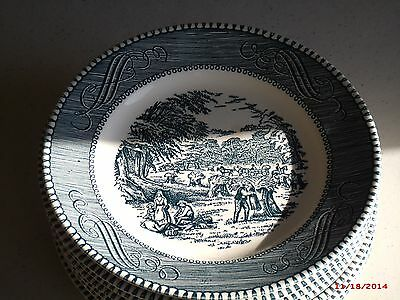 18 Pcs. Total Of Royal China, Currier & Ives Cavalier Ironstone, USA Made