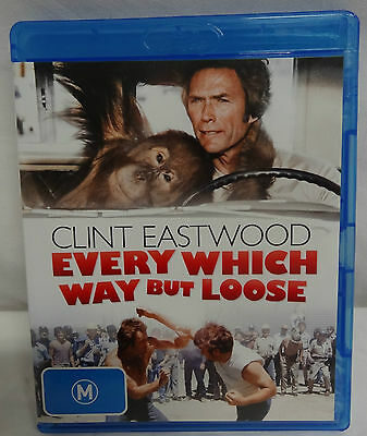 Blu-Ray- Every Which Way But Loose - Clint Eastwood - Region B - Great Condition