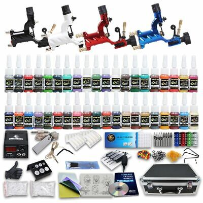 Professional Complete Tattoo Kit 4 Top Rotary Machine Gun 40Color Inks 50Needles