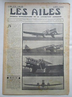 Ailes 1935 738 Bloch 210 Loire 130 Prototype Aviation Sanitaire Rhoen Pou Mignet