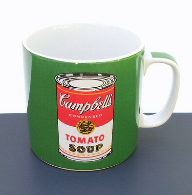 Campbell's Soup Andy Warhol Mug / Cup Green Tomato Block Art Coffee