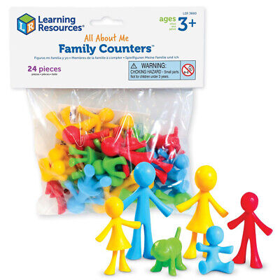 Learning Resources All About Me Family Counters 24 Pack NEW