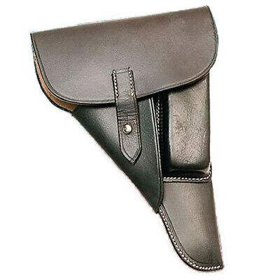 SS Soft Shell P-38 Holster - Black Leather
